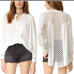 The best lace tunic blouse long sleeve gauze
